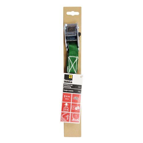 Sencys spanband PES groen 25 mm x 2,5 m