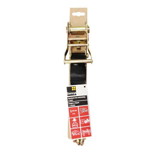 Sencys spanband PES zwart 38 mm x 5 m
