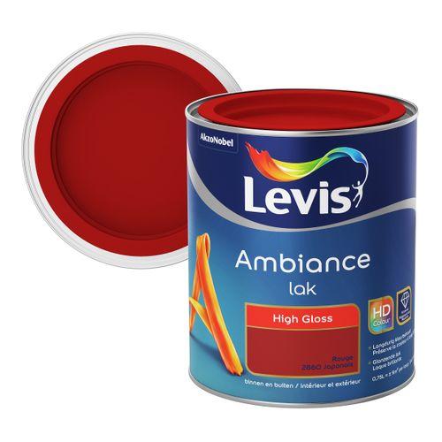 Laque Levis Ambiance High gloss rouge japonais 750ml