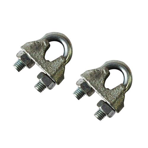 Sencys kabelklem beugel staal grijs Ø 6 mm - 2 stuks