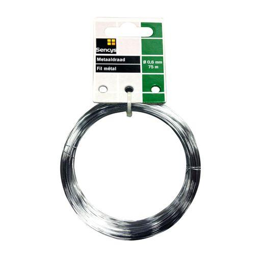 Sencys metaaldraad staal Ø 0,6 mm x 75 m