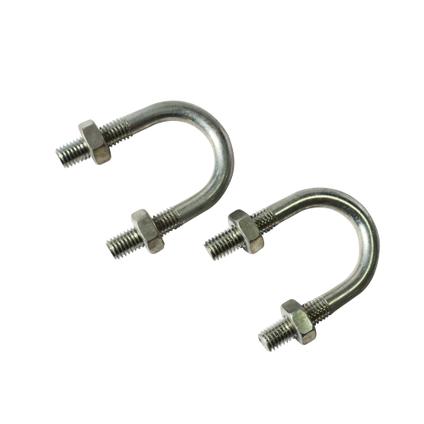 Sencys U-bout 'M8' staal grijs 54 mm - 2 stuks