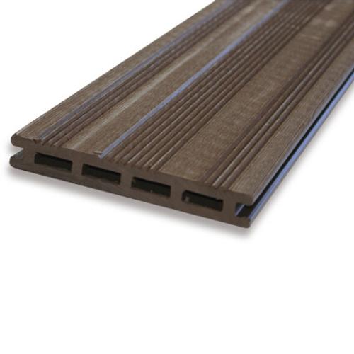 Planche de terrasse WPC composite brune