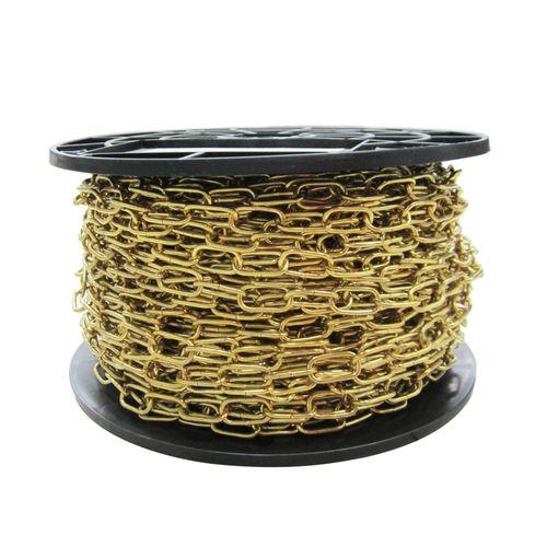 Sencys decoratieve ketting staal geel 2 mm x 1 m