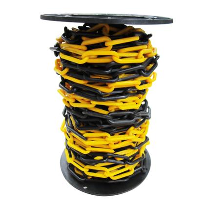 Sencys Afzetketting zwart/geel polyethyleen 6mm x 1 m