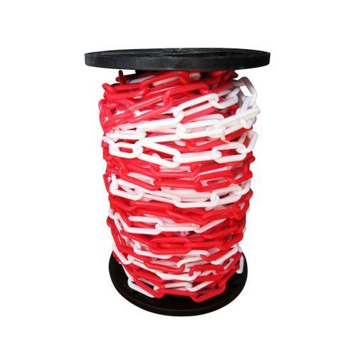 Sencys Afzetketting rood/Wit polyethyleen 6mm x 1 m