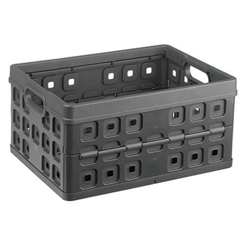 Boîte de rangement Sunware 'Square' pliante 32L anthracite