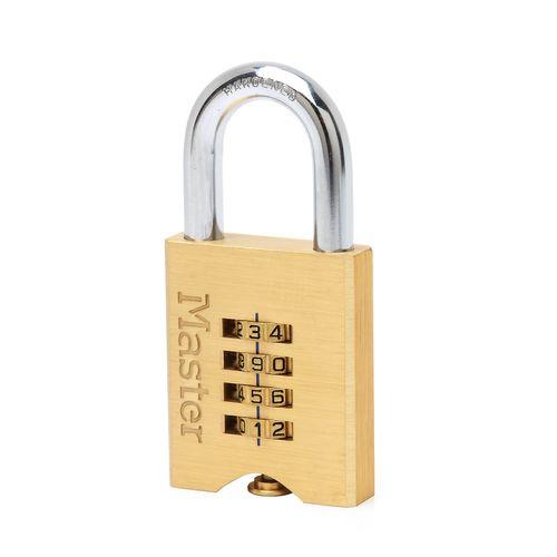 Master Lock hangslot met combinatie messing 32 x 50 mm