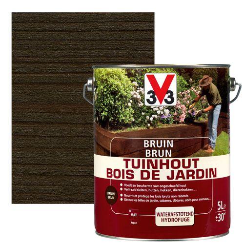 Bois de jardin V33 brun mat 5L