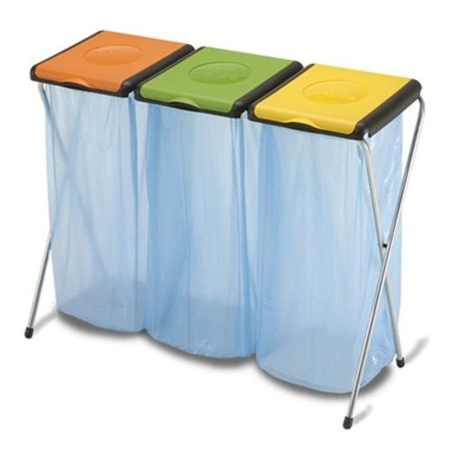 Porte-sacs-poubelle 'NATU3' 82 cm