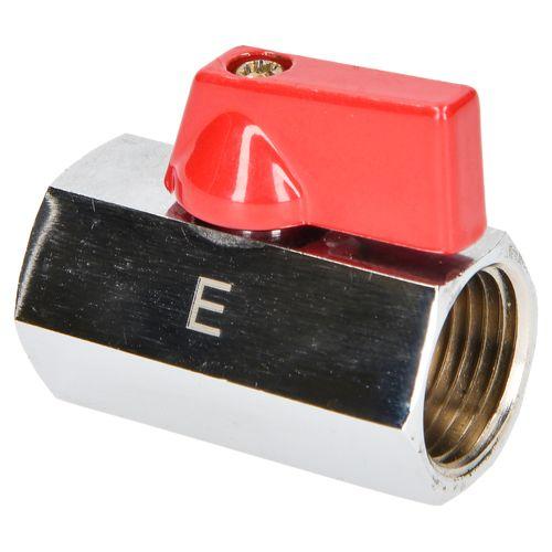 """Sanivesk kogelkraan mini met hendel chroom 1/2"""" binnendraad x 1/2"""" binnendraad"""