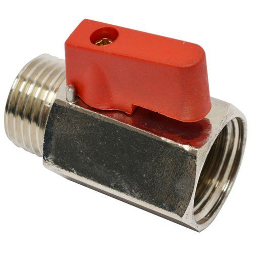 """Sanivesk kogelkraan mini met hendel chroom 1/2"""" buitendraad x 1/2"""" binnendraad"""