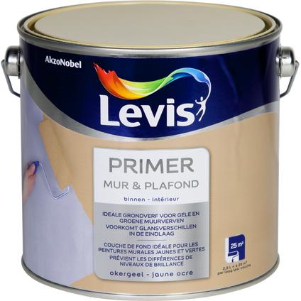 Primer Levis 'Mur & Plafond' jaune ocre 2,5 L