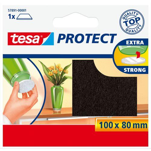 Tesa beschermviltjes knipbaar bruin