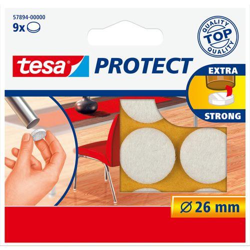 Tesa beschermviltjes rond wit 9 stuks