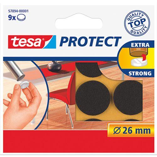 Tesa beschermviltjes rond bruin 9 stuks