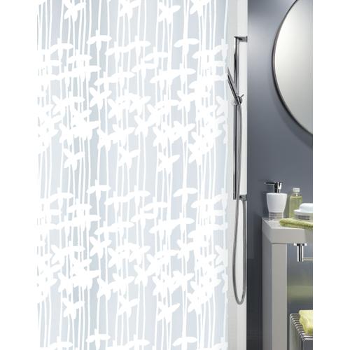 Spirella douchegordijn Sarong wit 180cm