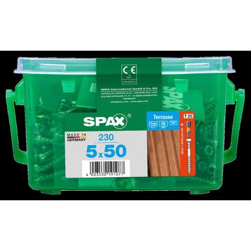 Spax schroef 'A2' RVS 50 x 5 mm - 230 stuks