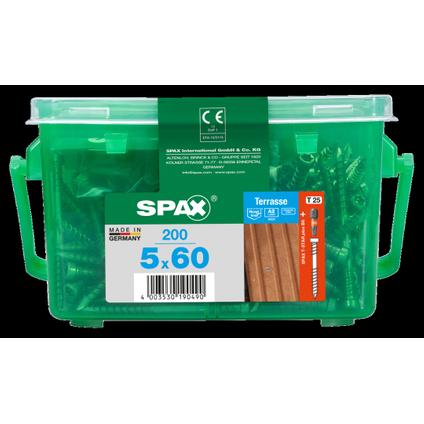 Spax schroef A2 RVS 60 x 5 mm - 200 stuks