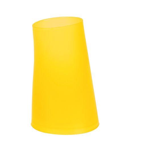 Spirella toiletborstel met houder Move frosty geel