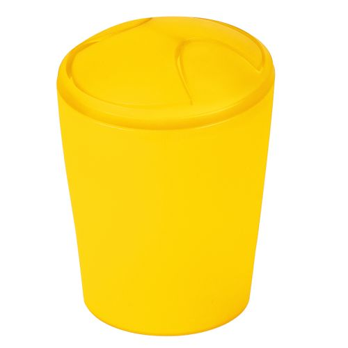 Poubelle Spirella Move jaune givré 5L