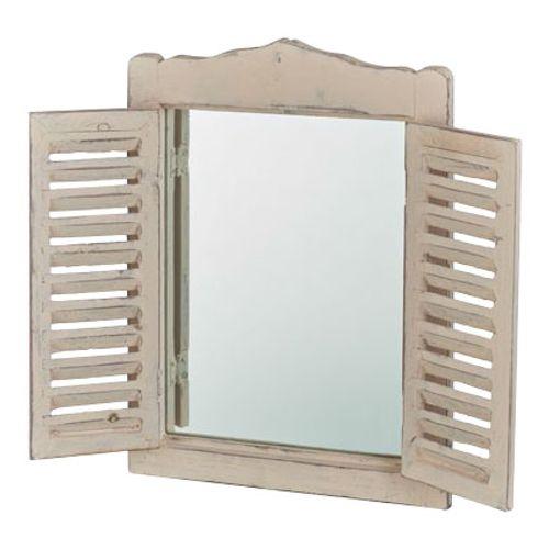 Spiegel louvre wit 40x30cm