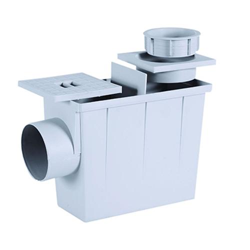 Martens inspectieput ronde verbinding PVC grijs 80 x 100 mm
