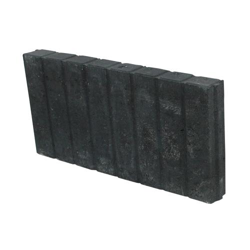 Decor palissade recht zwart 25 x 50cm