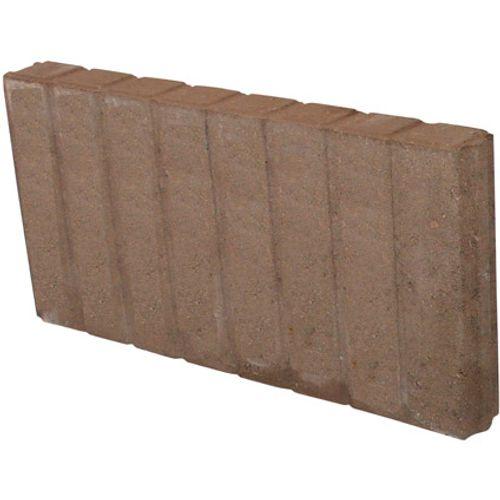 Decor palissade recht bruin 25 x 50cm