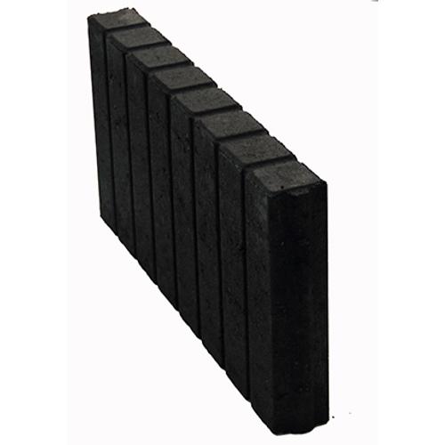 Decor palissade recht zwart 35 x 50cm