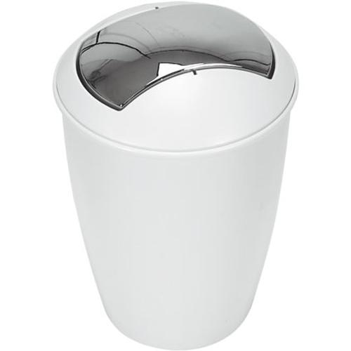 Poubelle Spirella 'Atlanta' matière synthétique blanc 5 L