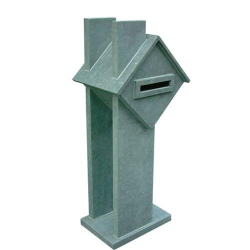 Boite aux lettres sur pied VASP 'Home Sweet Home' pierre bleue belge