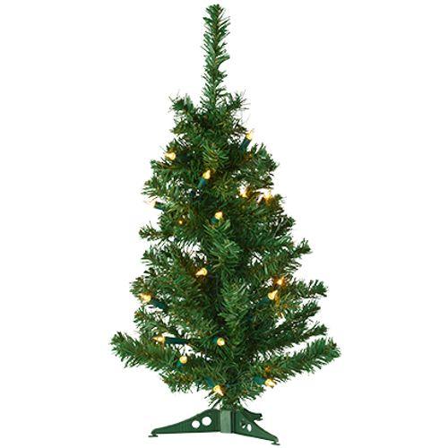 Sapin de Noël artificiel Central Park 2-en-1 vert 60cm