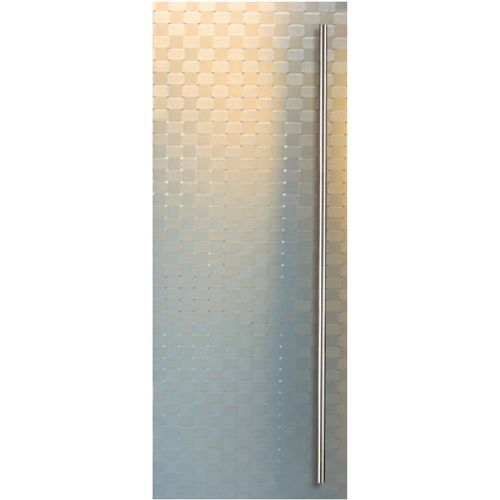 Porte en verre Sécurit Thys 'Thytan relief' 73cm