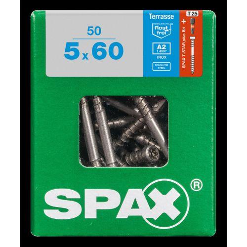 Spax schroef 'A2' RVS 60 x 5 mm - 50 stuks