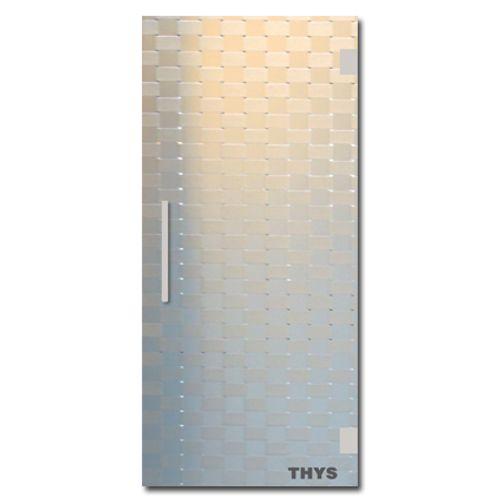 Porte coulissante en verre sécurit Thys 'Thytan Sliding' relief 215x83cm