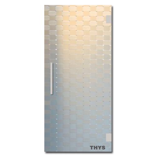 Porte coulissante en verre sécurit Thys 'Thytan Sliding' relief' 215x93cm