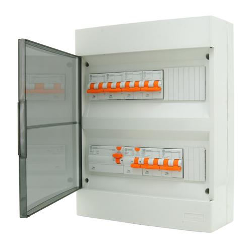 Coffret précâblé 24 modules Vynckier gris