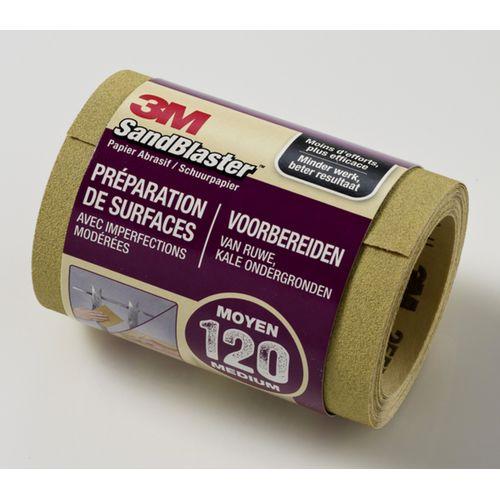 3M SandBlaster schuurpapier op rol korrel 120 middel 2,5m