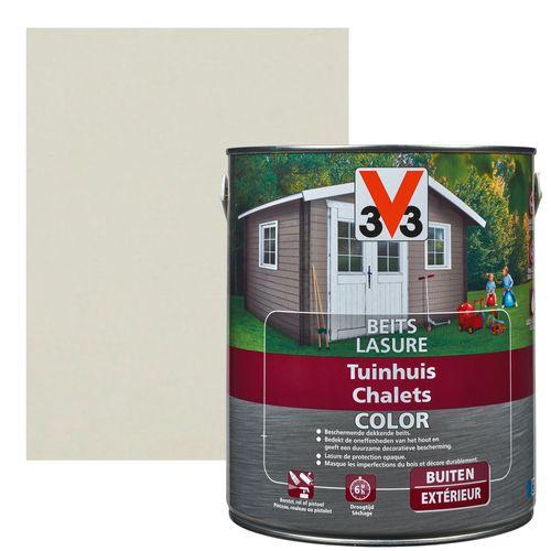 V33 houtbeits Tuinhuis salar grey zijdeglans 2,5L