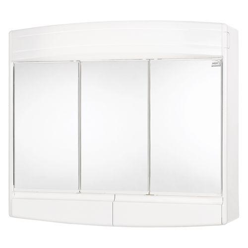 Differnz spiegelkast Topas-Eco 3-deurs met verlichting 53x60x18cm wit