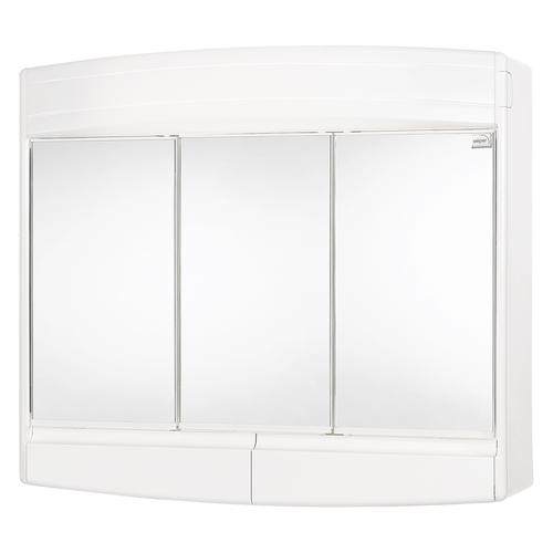 Differnz spiegelkast Topas  3-deurs met verlichting 53x60x18cm wit