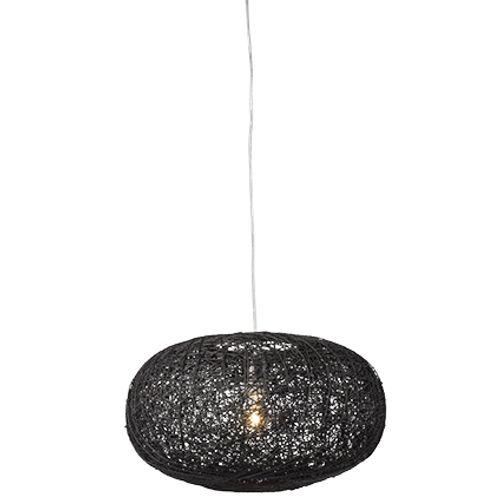 Besselink hanglamp 'Cocon' ovaal zwart