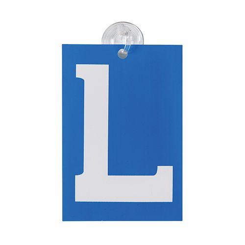 Plaque L avec ventouse Carpoint bleu