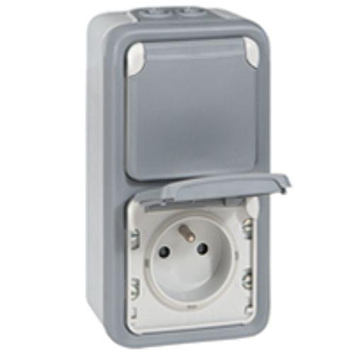LEGRAND spatwaterdicht stopcontact x 2 verticaal