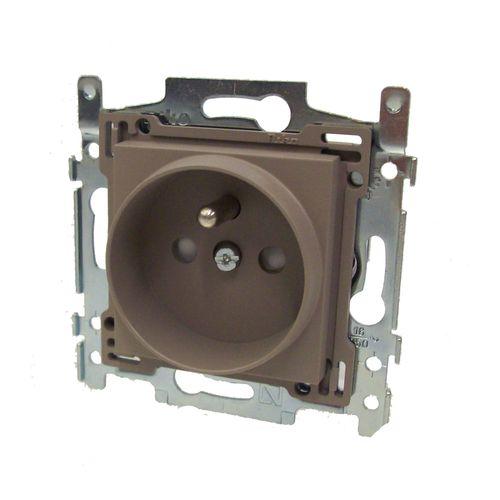 Niko stopcontact 21mm 2P + aardpen 'Original' grijsbège