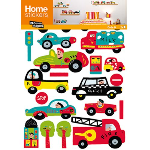 Sticker kids voitures Nouvelles Images 49 x 69 cm