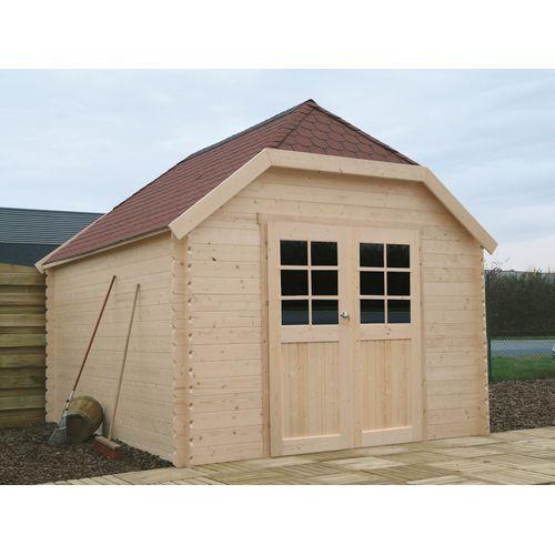 Solid tuinhuis Limerick hout 11,56m² 398x388cm