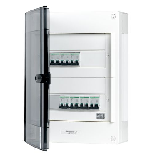 Coffret précâblé Schneider 24 modules triphase gris