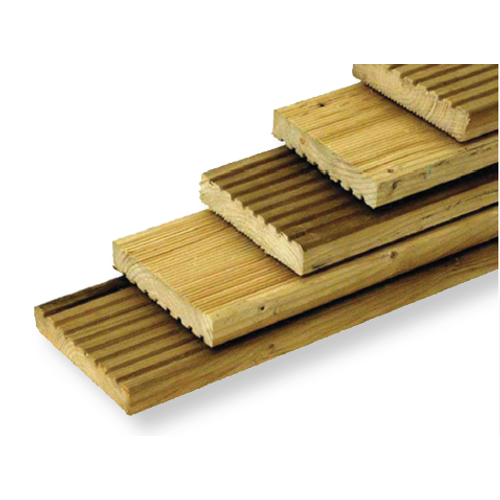 Planche de terrasse en sapin imprégné 240 x 14 cm x 19 mm